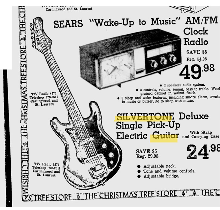 Silvertone World - Vintage Christmas Ads Mid-1960s - photo#11